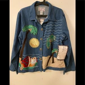 🎀3 for $50🎀 NWT Vintage 90s Denim Shirt